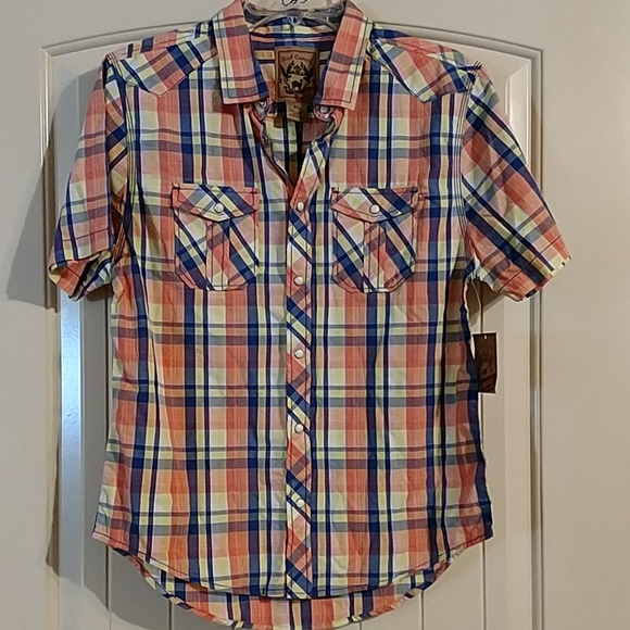 Red Camel Other - Red Camel boys snap front shirt with pockets